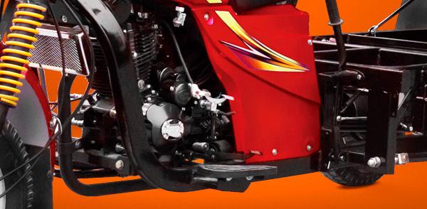 zongshen-motocicleta-furgón 200-motor