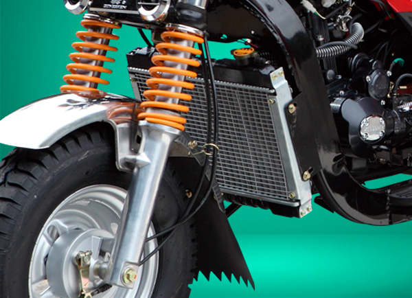 zongshen-motocicleta-furgón 250-sistema-enfriamiento